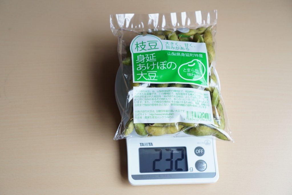 あけぼの大豆重さ計測